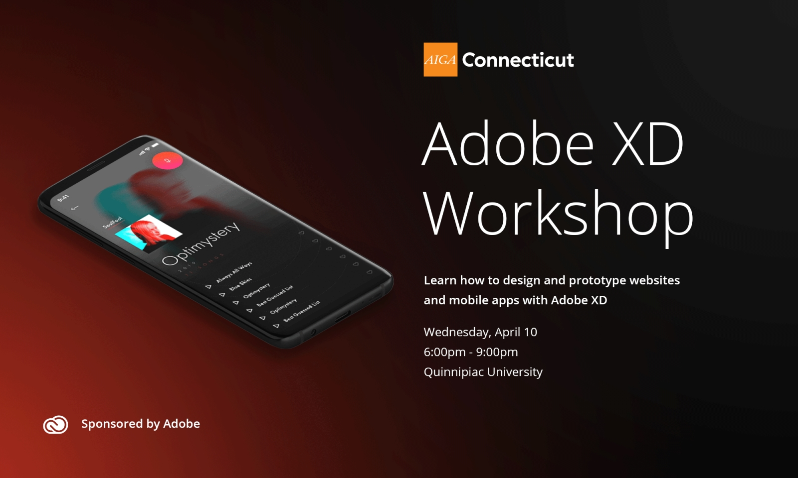 Adobe XD Workshop | SOLD OUT | AIGA Connecticut