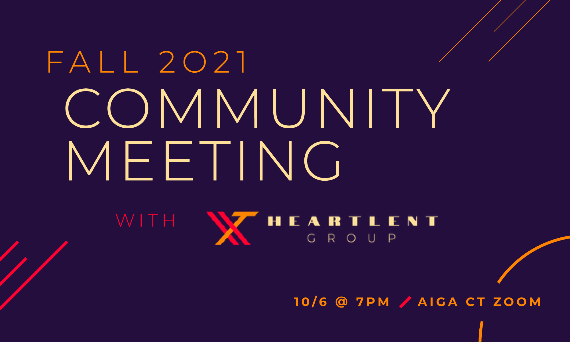Fall 2021 Community Meeting with HEARTLENT Group